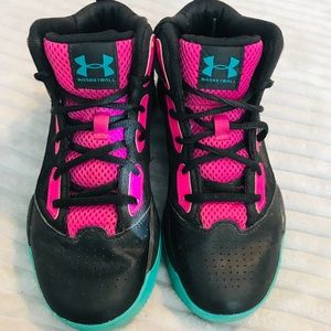 Under Armour Basketball Sneakers Pink Black Teal